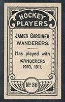 1911-1912 C55 Imperial Tobacco #36 James Gardiner (Gardner) Wanderers - Back