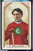 1911-1912 C55 Imperial Tobacco #39 G. (Henri) Dallaire Canadiens - Front