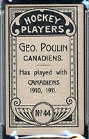 1911-1912 C55 Imperial Tobacco #44 George Poulin Canadiens - Back