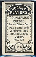 1911-1912 C55 Imperial Tobacco #6 Tom Dunderdale Quebec - Back