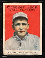 1914 E145 Cracker Jack #11 George Stovall Kansas City (Federal) - Front