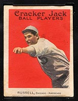 1914 E145 Cracker Jack #15 Ewell Russell Chicago (American) - Front