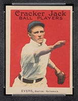1914 E145 Cracker Jack #18 Johnny Evers Boston (National) - Front