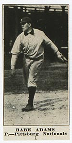 1915-1916 M101-4 Sporting News #1 Babe Adams Pittsburg (National)