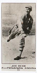 1915-1916 M101-4 Sporting News #21 Joe Bush Philadelphia Athletics