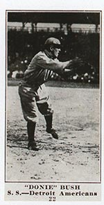"1915-1916 M101-4 Sporting News #22 ""Donie"" Bush Detroit (American)"
