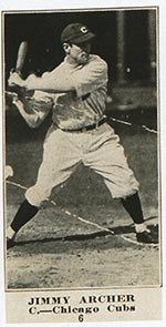 1915-1916 M101-4 Sporting News #6 Jimmy Archer Chicago Cubs