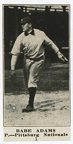 1915-1916 M101-5 Sporting News #1 Babe Adams Pittsburg (National)