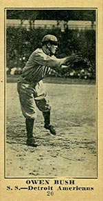 1915-1916 M101-5 Sporting News #20 Owen Bush Detroit (American)