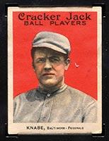 1915 E145-2 Cracker Jack #1 Otto Knabe Baltimore (Federal) - Front