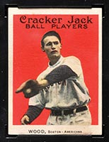 1915 E145-2 Cracker Jack #22 Joe Wood Boston (American) - Front