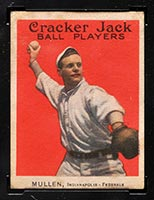 1915 E145-2 Cracker Jack #24 George Mullen (Mullin) Indianapolis (Federal) - Front