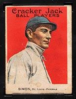 1915 E145-2 Cracker Jack #25 Michael Simon St. Louis (Federal) - Front