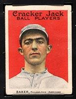 """1915 E145-2 Cracker Jack #2 Frank """"Home Run"""" Baker Philadelphia (American) - Front"""
