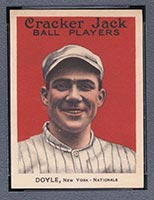 1915 E145-2 Cracker Jack #4 Larry Doyle New York (National) - Front