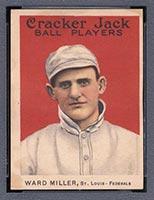 1915 E145-2 Cracker Jack #5 Ward Miller St. Louis (Federal) - Front