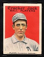 1915 E145-2 Cracker Jack #6 Eddie Plank Philadelphia (American) - Front