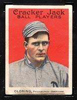 1915 E145-2 Cracker Jack #8 Rube Oldring Philadelphia (American) - Front