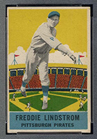 1933 DeLong #11 Freddie Lindstrom Pittsburgh Pirates - Front