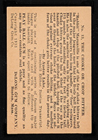 "1933 DeLong #13 ""Rabbit"" Maranville Boston Braves - Back"