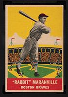 "1933 DeLong #13 ""Rabbit"" Maranville Boston Braves - Front"