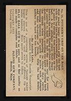 "1933 DeLong #14 Vernon ""Lefty"" Gomez New York Yankees - Back"