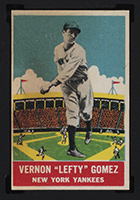 "1933 DeLong #14 Vernon ""Lefty"" Gomez New York Yankees - Front"