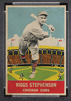 1933 DeLong #15 Riggs Stephenson Chicago Cubs - Front