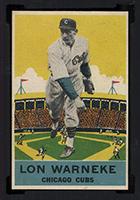 1933 DeLong #16 Lon Warneke Chicago Cubs - Front