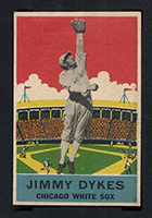 1933 DeLong #18 Jimmy Dykes Chicago White Sox - Front