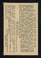 1933 DeLong #19 Chick Hafey Cincinnati Reds - Back