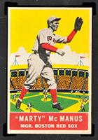 1933 DeLong #1 Marty McManus Boston Red Sox - Front