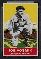 1933 DeLong #20 Joe Vosmik Cleveland Indians - Front