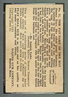 1933 DeLong #21 Jimmy Foxx Philadelphia Athletics - Back