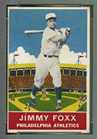 1933 DeLong #21 Jimmy Foxx Philadelphia Athletics - Front