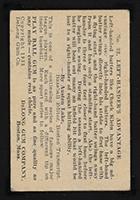 1933 DeLong #22 Charles (Chuck) Klein Philadelphia Nationals - Back