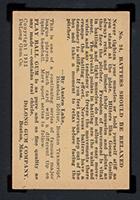 """1933 DeLong #24 """"Goose"""" Goslin Washington Senators - Back"""
