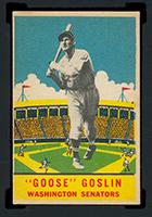 "1933 DeLong #24 ""Goose"" Goslin Washington Senators - Front"