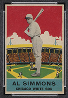 1933 DeLong #2 Al Simmons Chicago White Sox - Front