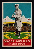 1933 DeLong #3 Oscar Melillo St. Louis Browns - Front