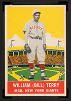 1933 DeLong #4 William (Bill) Terry New York Giants - Front