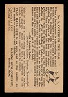 1933 DeLong #5 Charlie Gehringer Detroit Tigers - Back
