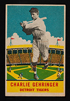 1933 DeLong #5 Charlie Gehringer Detroit Tigers - Front