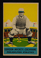1933 DeLong #6 Gordon (Mickey) Cochrane Philadelphia Athletics - Front