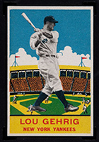 1933 DeLong #7 Lou Gehrig New York Yankees - Front