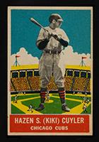 1933 DeLong #8 Hazen S. (Ki-Ki) Cuyler Chicago Cubs - Front