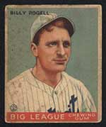 1933 Goudey #11 Billy Rogell Detroit Tigers - Front