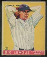 1933 Goudey #12 George Pipgras New York Yankees - Front