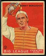 1933 Goudey #1 Benny Bengough St. Louis Browns - Front