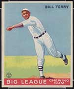 1933 Goudey #20 Bill Terry New York Giants - Front